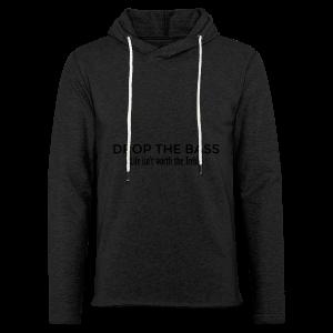 Drop the Bass Hoodie (Schwarz) - Leichtes Kapuzensweatshirt Unisex