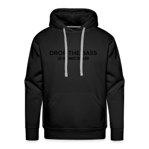 Drop the Bass Hoodie (Schwarz) - Männer Premium Hoodie