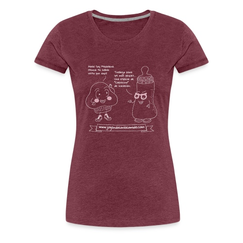 Jugando con la Comida: Biberón - Camiseta premium mujer