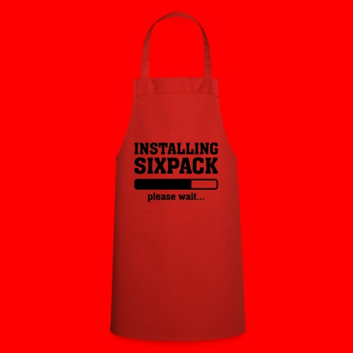 Mannen T-Shirt Sixpack - Keukenschort