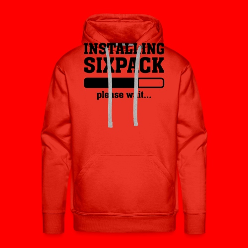 Mannen T-Shirt Sixpack - Mannen Premium hoodie