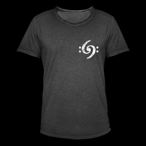 Double Bass Clef (Vintage Weiß) S-5XL T-Shirt - Männer Vintage T-Shirt