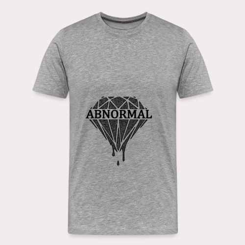 Abnormal Diamond Hoodie (Black Logo) - Men's Premium T-Shirt