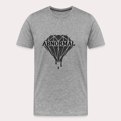 Abnormal Diamond Hoodie (Black Logo) - Men's Premium T-Shirt