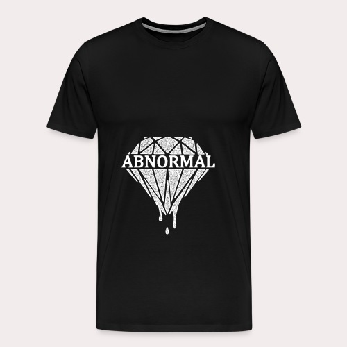 Abnormal Diamond Hoodie (White Logo) - Men's Premium T-Shirt