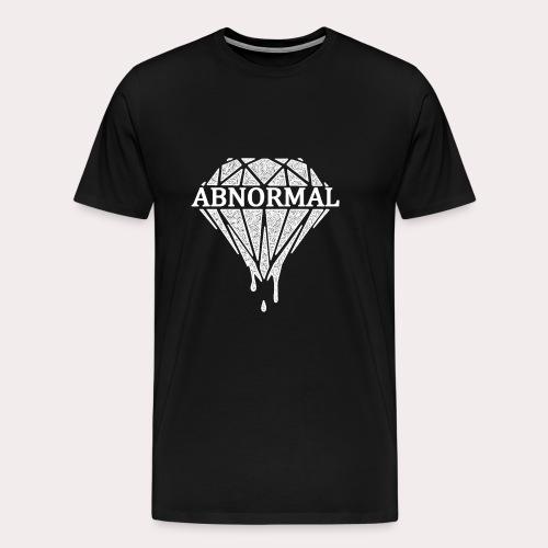 Abnormal Diamond Hoodie (White Logo) - Men's Premium T-Shirt