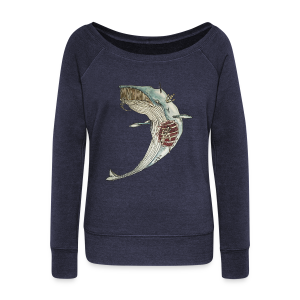 Pinocchio's whale - Women's Boat Neck Long Sleeve Top