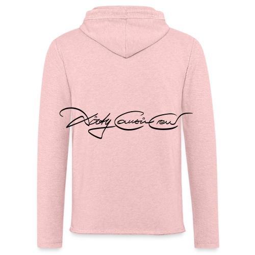 Pink-Handwriting - Leichtes Kapuzensweatshirt Unisex