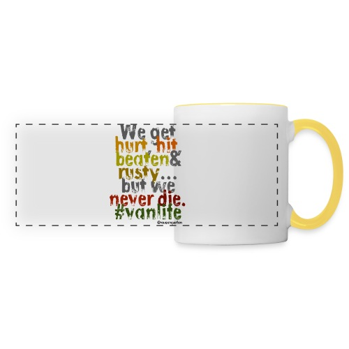 We get hurt - pillow - Panoramic Mug