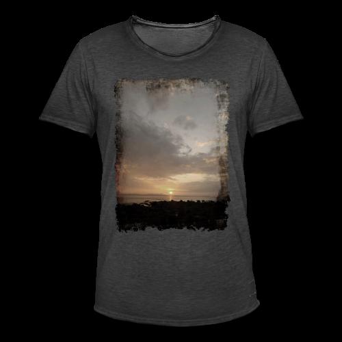 ausgerissen Sonnenuntergang Shirt - Männer Vintage T-Shirt