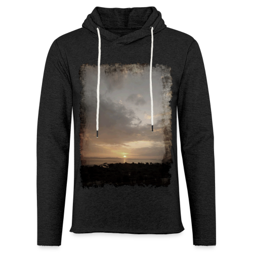 ausgerissen Sonnenuntergang Shirt - Leichtes Kapuzensweatshirt Unisex