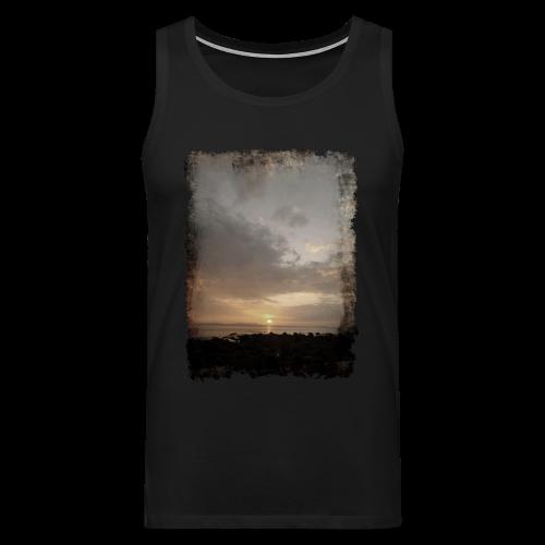 ausgerissen Sonnenuntergang Shirt - Männer Premium Tank Top