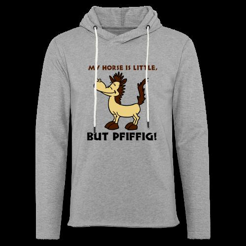 My Horse-Schwarz-Silbermetallic-Neonpink - Leichtes Kapuzensweatshirt Unisex