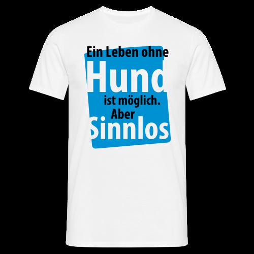 Ohne Hund-Schwarz-Neongrün - Männer T-Shirt