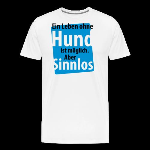Ohne Hund-Schwarz-Neongrün - Männer Premium T-Shirt