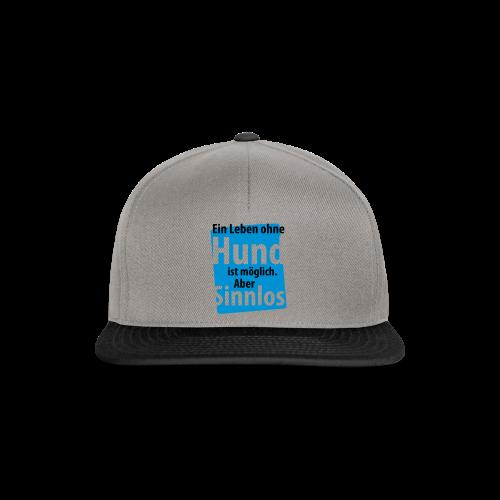Ohne Hund-Schwarz-Neongrün - Snapback Cap