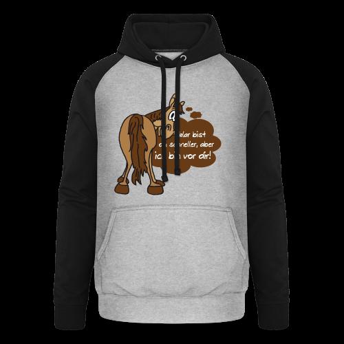 Schnelles Pferd-Braun - Unisex Baseball Hoodie