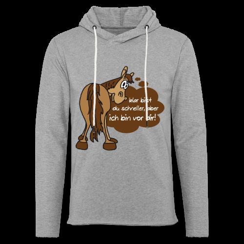 Schnelles Pferd-Braun - Leichtes Kapuzensweatshirt Unisex
