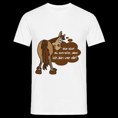 Schnelles Pferd-Braun - Männer T-Shirt