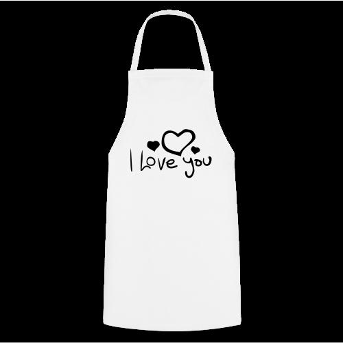 I Love You-Rot Glitzer - Kochschürze