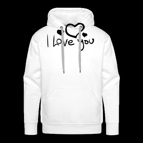 I Love You-Rot Glitzer - Männer Premium Hoodie