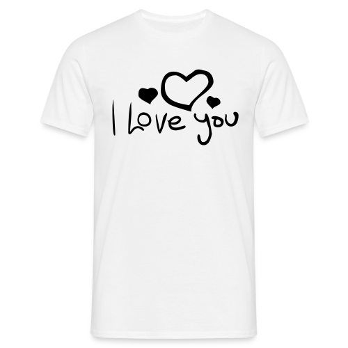 I Love You-Rot Glitzer - Männer T-Shirt