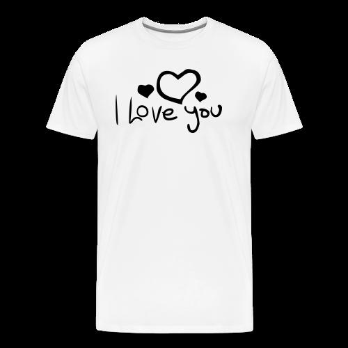 I Love You-Rot Glitzer - Männer Premium T-Shirt