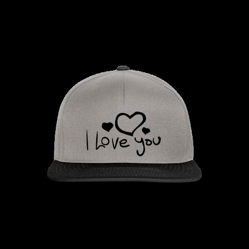 I Love You-Rot Glitzer - Snapback Cap