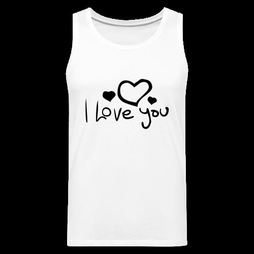 I Love You-Rot Glitzer - Männer Premium Tank Top