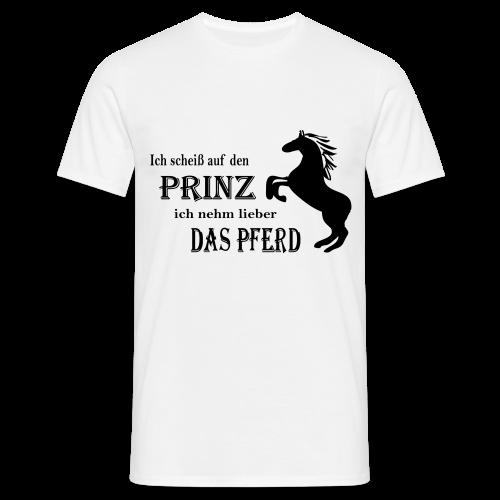 Lieber das Pferd-Magenta - Männer T-Shirt