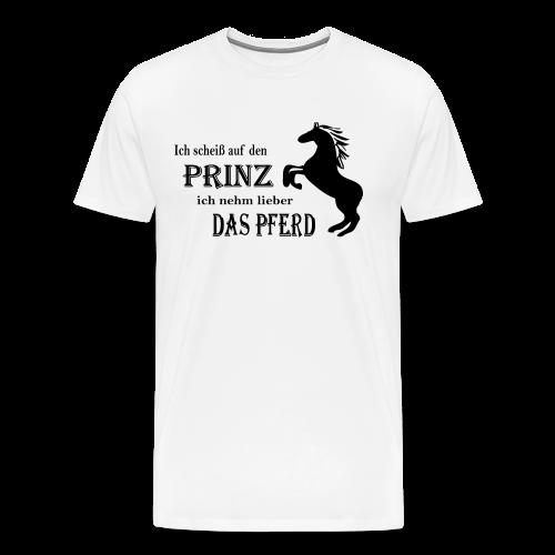 Lieber das Pferd-Magenta - Männer Premium T-Shirt