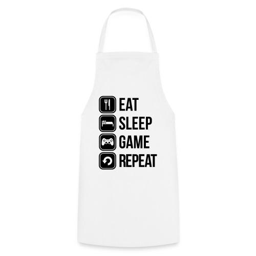 Eat Sleep Game Repeat [Women] - Cooking Apron