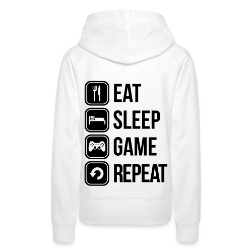 Eat Sleep Game Repeat [Women] - Women's Premium Hoodie