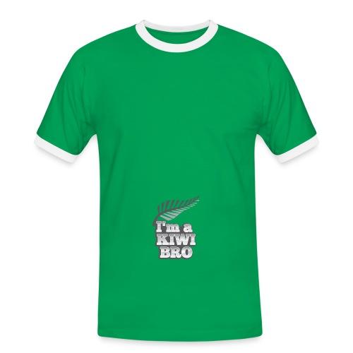 Awesome New Zealander retro bag  - Men's Ringer Shirt