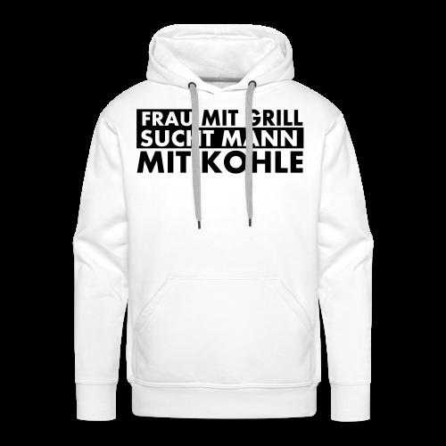 Frau mit Grill..Schwarz Glitzer - Männer Premium Hoodie