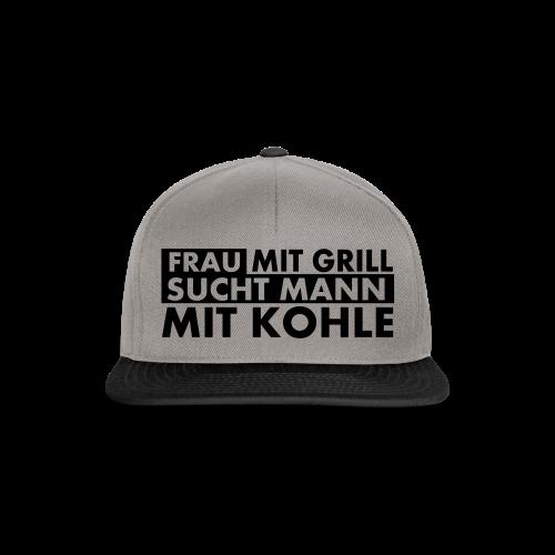 Frau mit Grill..Schwarz Glitzer - Snapback Cap