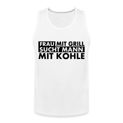 Frau mit Grill..Schwarz Glitzer - Männer Premium Tank Top