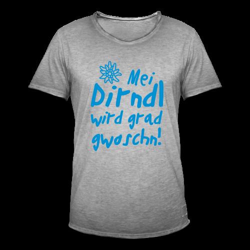 Mei Dirndl...Schwarz Glitzer - Männer Vintage T-Shirt