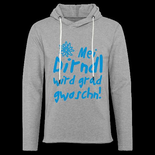 Mei Dirndl...Schwarz Glitzer - Leichtes Kapuzensweatshirt Unisex