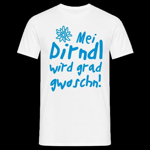 Mei Dirndl...Schwarz Glitzer - Männer T-Shirt