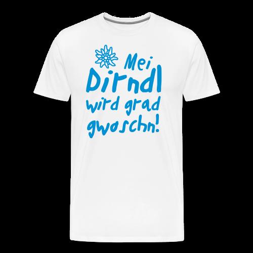 Mei Dirndl...Schwarz Glitzer - Männer Premium T-Shirt