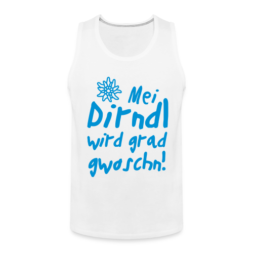 Mei Dirndl...Schwarz Glitzer - Männer Premium Tank Top