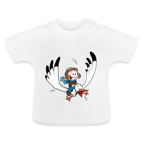 Slabbetje met ooievaar piloot - Baby T-shirt