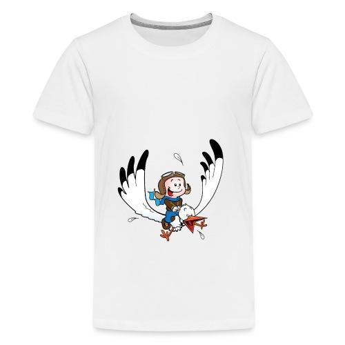 Slabbetje met ooievaar piloot - Teenager Premium T-shirt