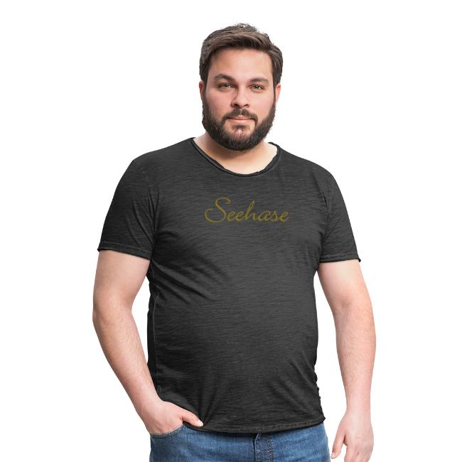 4791993a50313 Der Bodensee T-Shirt Shop | Seehase T-Shirt (DamenGold) - Männer Vintage T- Shirt