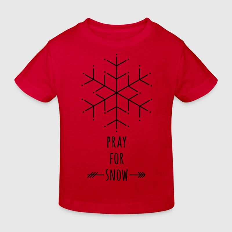 Pray for Snow Shirts - Kids' Organic T-shirt