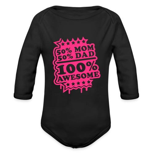 Baby boy body awesome - Organic Longsleeve Baby Bodysuit