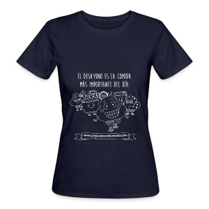 El desayuno en la comida más importante del día para los más peques - Camiseta ecológica mujer
