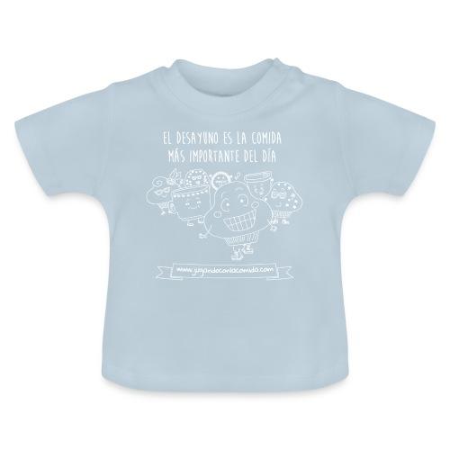 El desayuno en la comida más importante del día para los más peques - Camiseta bebé
