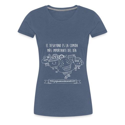 El desayuno en la comida más importante del día para los más peques - Camiseta premium mujer